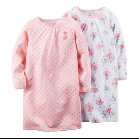 74649abe3 Brand New Adorable Carters 2 piece Night Gown Set NWT